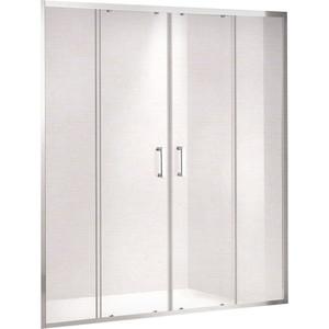 Душевая дверь Gemy Victoria 180 прозрачная, хром (S30192D)
