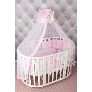 Комплект в кроватку AmaroBaby Premium 18 предметов (6+12 бортиков) ЭЛИТ (бязь, розовый)