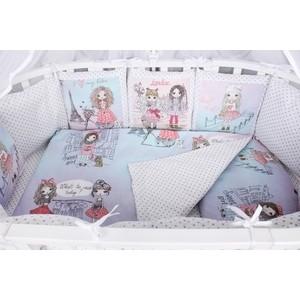 Комплект в кроватку AmaroBaby Premium 19 предметов (7+12 бортиков) LITTLE CRYSTAL (поплин,розовый)