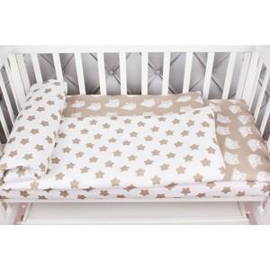 Комплект в кроватку AmaroBaby 3 предмета BABY BOOM (Пряники/коричневый, бязь)