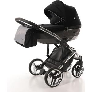 Коляска 2 в 1 Junama Diamond SPECIAL JDS-03 черный/серый короб/рама серебро коляска 2 в 1 tako jumper style jumper v светло серый черный рама серебро tjs 02