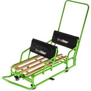Санки-трансформер Small Rider для двойни с колесиками и толкателем Snow Twins 2 (зеленый)