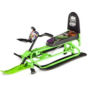 Снегокат-трансформер Small Rider с колесиками и спинкой Snow Comet 2 (зеленый)