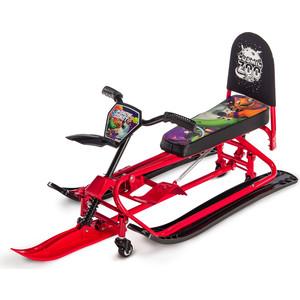 Снегокат-трансформер Small Rider с колесиками и спинкой Snow Comet 2 (красный)