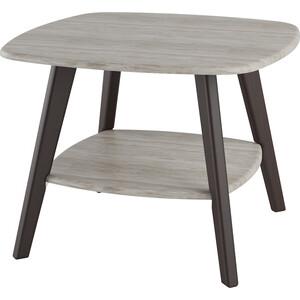 Стол журнальный Калифорния мебель Хадсон дуб беленый/венге