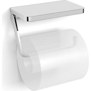 Держатель туалетной бумаги Langberger Accessories с хромированной полкой (35041B)