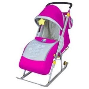 Санки-коляска Nika Ника детям 4 2015 розовый НД4 все цены