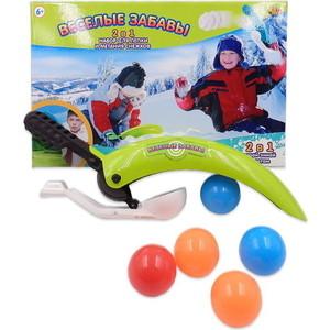Игрушечное оружие Abtoys Набор для лепки и метания снежков 2 в 1 Веселые забавы (PT-00859)