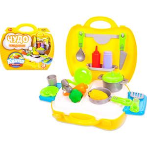 Детская кухня Abtoys Чудо-чемоданчик, 21 предмет (PT-00458)