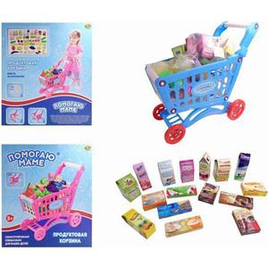 Игровой набор Abtoys Корзина-тележка для продуктов Помогаю Маме, 53 предмета в наборе (PT-00358)