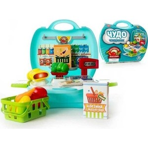 Игровой набор Abtoys Овощной магазин Чудо-чемоданчик, 23 предмета (PT-00461)