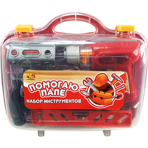 Игровой набор Abtoys инструменты в чемодане Помогаю Папе, 26 предметов (PT-00269)