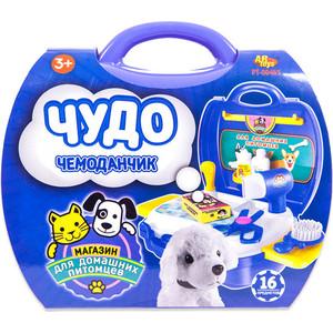 Игровой набор Abtoys уход за домашним питомцем (с собачкой) Чудо-чемоданчик, 16 предметов (PT-00465)