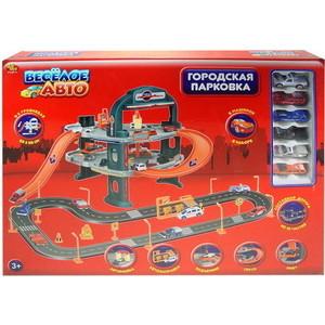 Игровая Парковка Abtoys Веселое авто, 3-х уровневая, в наборе 6 машинок и дорога (PT-00171(P2088E))
