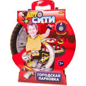 Игровая Парковка Abtoys Авто Сити 2-х уровневая, в чемоданчике-автошине (PT-00546(WA-D0124))