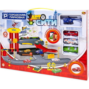 Игровая Парковка Abtoys АвтоСити, 2-х уровневая, 43 детали (PT-00862)