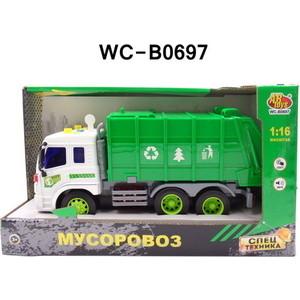 Машинка электромеханическая Abtoys Мусоровоз (закрытый) 1:16 (WY320C)