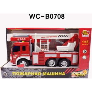 Машинка электромеханическая Abtoys Машина Пожарная (с лестницей), 1:16 (WY350B)