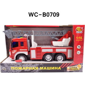 Машинка электромеханическая Abtoys Машина Пожарная 1:16 (WY350C)