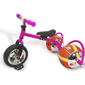 Фото - Велосипед трехколёсный Bradex с колесами в виде мячей БАСКЕТБАЙК розовый велосипед с колесами в виде мячей баскетбайк зелёный walking bike on ball two