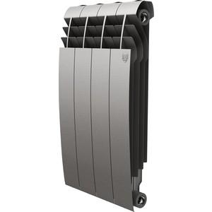 Радиатор отопления ROYAL Thermo биметаллический BiLiner 500 new Silver Satin 4 секции недорго, оригинальная цена