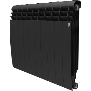 Радиатор отопления ROYAL Thermo биметаллический BiLiner 500 new Noir Sable 10 секций радиатор royal thermo pianoforte tower noir sable 18 секций rtpftns50018