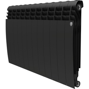 Радиатор отопления ROYAL Thermo биметаллический BiLiner 500 new Noir Sable 12 секций радиатор royal thermo pianoforte tower noir sable 18 секций rtpftns50018