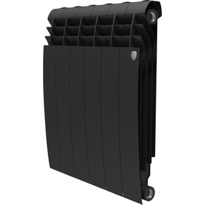 Радиатор отопления ROYAL Thermo биметаллический BiLiner 500 new Noir Sable 6 секций радиатор royal thermo pianoforte tower noir sable 18 секций rtpftns50018