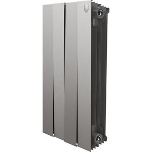 цена на Радиатор отопления ROYAL Thermo биметаллический PianoForte 500 Silver Satin 4 секции