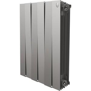 Радиатор отопления ROYAL Thermo биметаллический PianoForte 500 Silver Satin 6 секций недорго, оригинальная цена