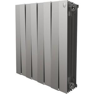 Радиатор отопления ROYAL Thermo биметаллический PianoForte 500 Silver Satin 8 секций недорго, оригинальная цена