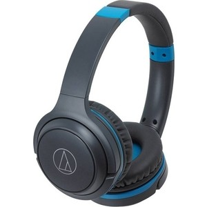 Наушники Audio-Technica ATH-S200BT grey/blue наушники audio technica ath s200bt grey blue