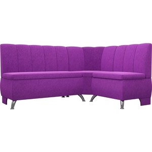 Кухонный уголок АртМебель Кантри вельвет фиолетовый правый угол