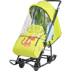 Сани коляска Ника комбинированная Disney Baby 1 (С Тигром лимонный) DB1/3