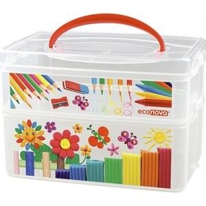 Коробка универсальная Бытпласт с ручкой и декором ART BOX 2 секции, 245Х160х165мм спиннинг волжанка волгаръ тест 40 100гр 2 1м 2 секции композит
