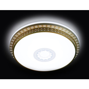 Управляемый светодиодный светильник Ambrella light F130 WH GD 72W D500 ambrella потолочный светильник ambrella orbital dance f789 gd 72w d500