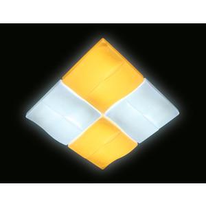 Управляемый светодиодный светильник Ambrella light FP2382 WH 128W D500*500