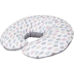 Подушка для кормления Ceba Baby Physio Mini Clouds трикотаж W-702-700-528 подушка для кормления ceba baby physio multi велюр stars blue