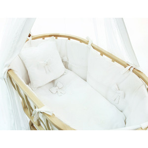 колыбели Набор для кроватки Funnababy Premium Baby для колыбели Berlin белый без матрасика