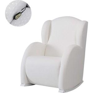Кресло-качалка Micuna Wing/Flor Relax white/white искусственная кожа