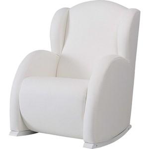 Кресло-качалка Micuna Wing/Flor white/white искусственная кожа