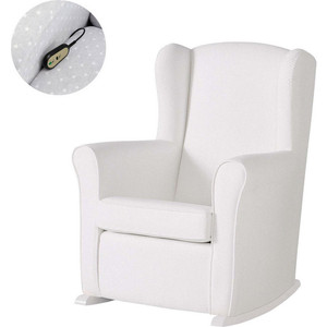 Кресло-качалка Micuna Wing/Nanny Relax white/white искусственная кожа