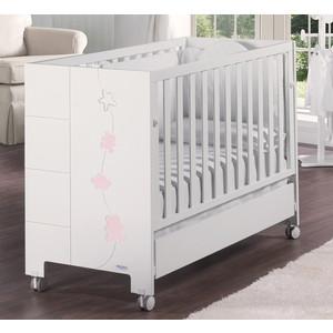 Кроватка Micuna Juliette Relax 120*60 white/pink цена