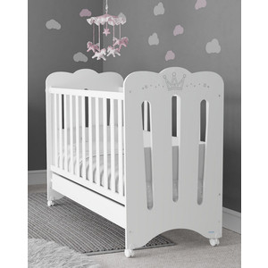 Кроватка Micuna Meghan 120*60 white с матрацем CH-620 колыбель micuna spring с тектилем мо 1783 white