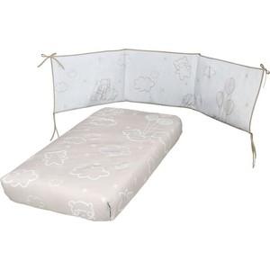 Набор для кроватки Micuna Dolce Luce покрывало+борт 120*60 TX-1650 beige цена и фото