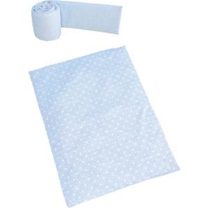 Набор для кроватки Micuna Galaxy покрывало+бортик колыбели ТХ-1823 galaxy blue