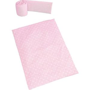 Набор для кроватки Micuna Galaxy покрывало+бортик колыбели ТХ-1823 galaxy pink
