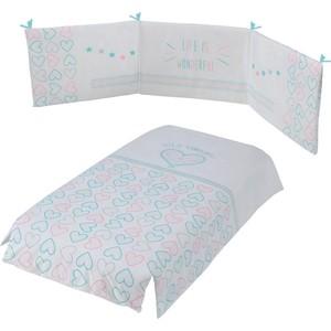 Набор для кроватки Micuna Wonderful покрывало+борт 120*60 TX-1650