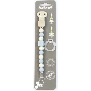 Держатель Nattou для фиксации соски Pacifinder Lapidou light blue-white 879330