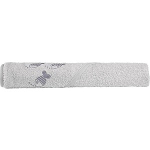 Полотенце Odenwalder с уголком 100*100см 032022-1 Рыбки Light Silver 0125